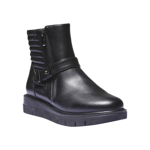 Scarpe alla caviglia dal design originale bata, nero, 691-6154 - 13
