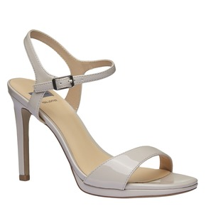 Sandali verniciati da donna con cinturino alla caviglia bata, beige, 761-8550 - 13