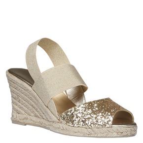 Sandali da donna con plateau bata, beige, 769-8548 - 13