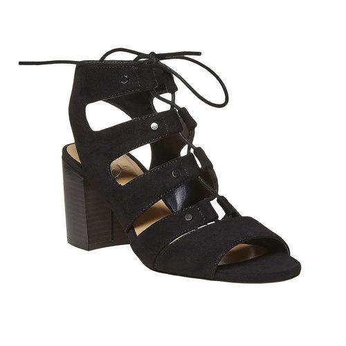Sandali con allacciatura bata, nero, 769-6536 - 13