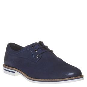 Scarpe basse informali di pelle bata, viola, 826-9642 - 13