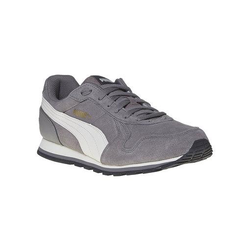 Sneakers in pelle da uomo puma, grigio, 803-2311 - 13