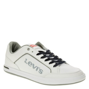 Sneakers da uomo con lacci in denim levis, bianco, 841-1551 - 13