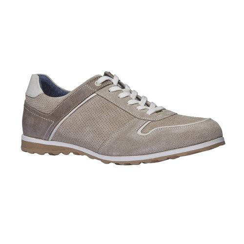 Sneakers informali di pelle bata, giallo, 843-8637 - 13