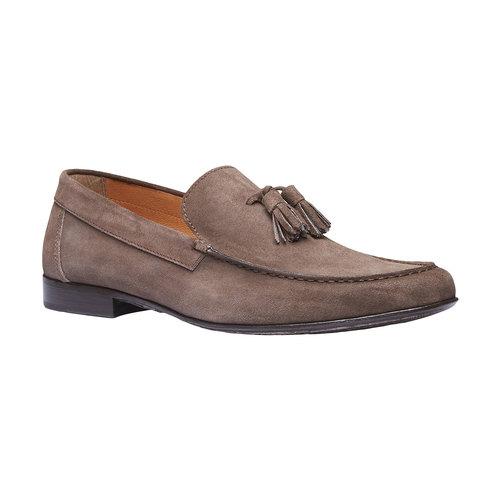 Mocassini da uomo in pelle shoemaker, marrone, 813-4149 - 13