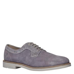 Scarpe basse informali di pelle bata, grigio, 823-2769 - 13