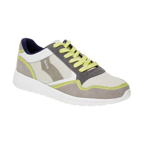Sneakers da uomo in pelle gas, beige, giallo, 843-8606 - 13
