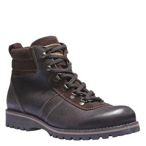 Scarpe di pelle alla caviglia bata, marrone, 894-4343 - 13
