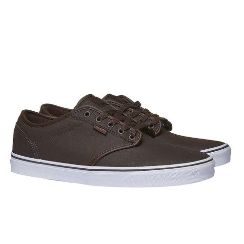 Sneakers da uomo con suola bianca vans, marrone, 801-4300 - 26