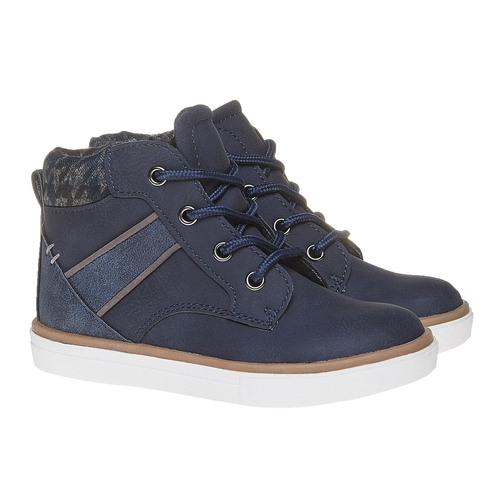 Sneakers da bambino alla caviglia mini-b, blu, 211-9169 - 26