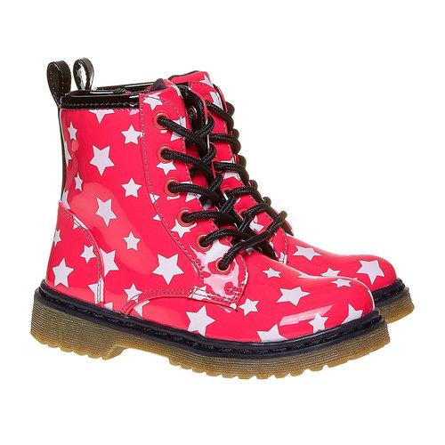 Scarpe da bambina sopra la caviglia con stelline mini-b, rosa, 291-5159 - 26