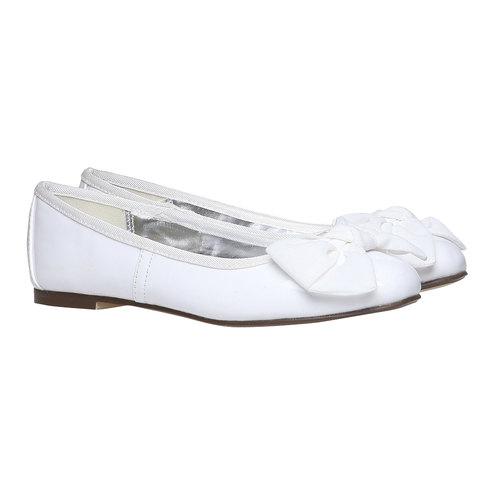 Ballerine da ragazza con fiocco mini-b, bianco, 321-1191 - 26
