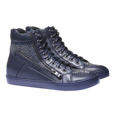Sneakers alla caviglia con strass north-star, viola, 541-9118 - 26
