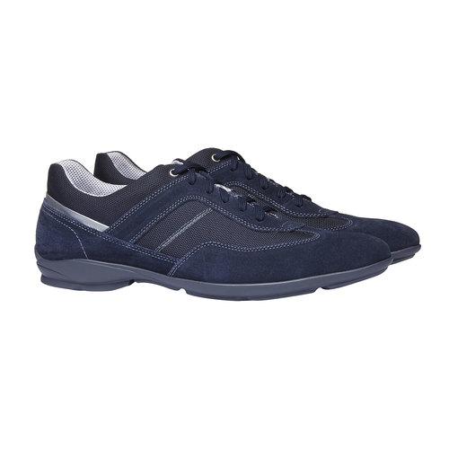 Sneakers informali di pelle bata, viola, 823-9987 - 26