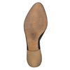 Stivaletti di pelle alla caviglia con perforazioni bata, nero, 594-6400 - 26