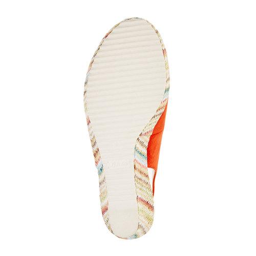 Sandali da donna con plateau bata, rosso, 769-5522 - 26