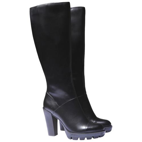 Stivali con suola originale bata, nero, 791-6574 - 26