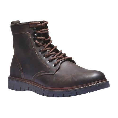 Scarpe di pelle alla caviglia bata, marrone, 894-4360 - 13