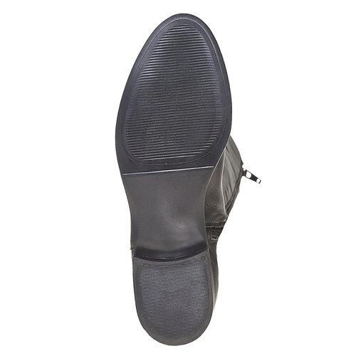 Stivali di pelle con cuciture bata, nero, 594-6525 - 26