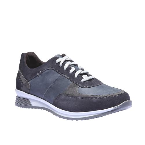 Sneakers di pelle bata, viola, 844-9435 - 13
