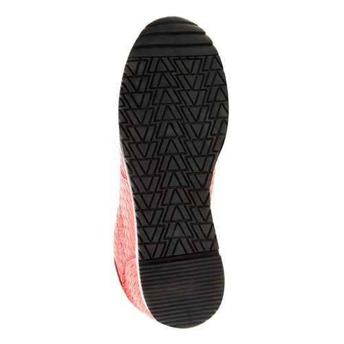 Sneakers dal design intrecciato north-star, rosso, 531-5114 - 26