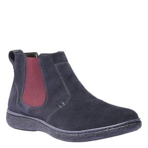 Scarpe in pelle stile Chelsea bata, blu, 893-9632 - 13