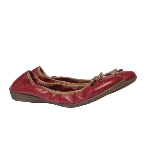 Ballerine rosse di pelle bata, rosso, 524-5485 - 26