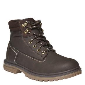 Scarpe alla caviglia con suola appariscente bata, marrone, 891-4438 - 13