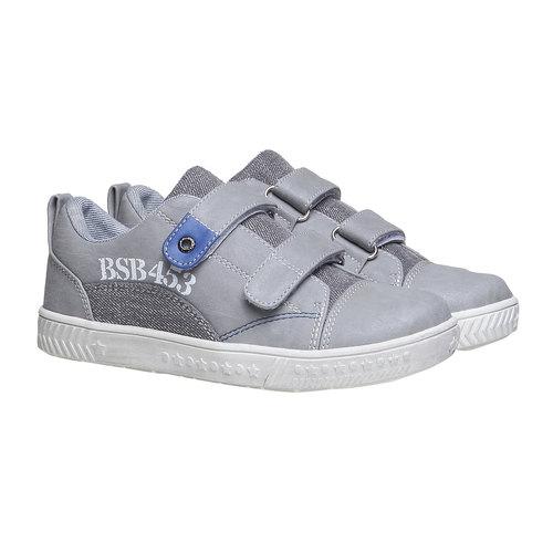 Sneakers da bambino con velcro mini-b, grigio, 211-2157 - 26