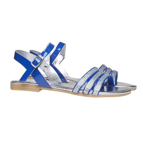 Sandali da bambina con strisce mini-b, blu, 361-9175 - 26