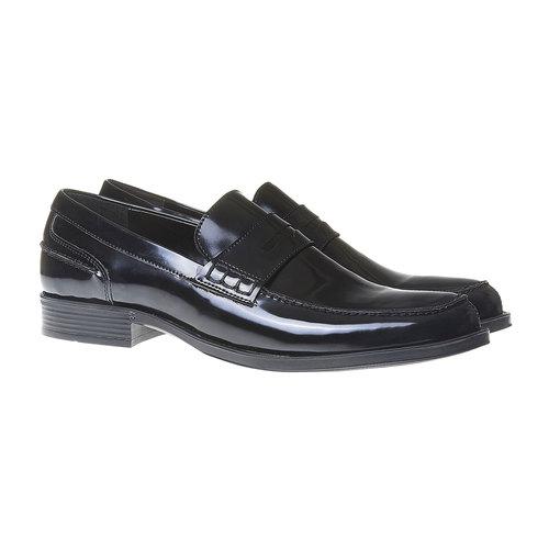 Scarpe da uomo in stile Penny Loafers bata, nero, 811-6150 - 26