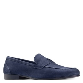 Mocassini da uomo in pelle flexible, blu, 853-9186 - 13