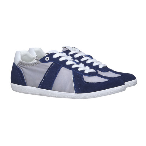 Sneakers informali da uomo bata, blu, 849-9653 - 26