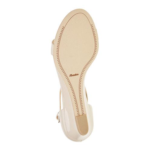 Sandali da donna con cinturino sul collo del piede bata, beige, 561-8407 - 26