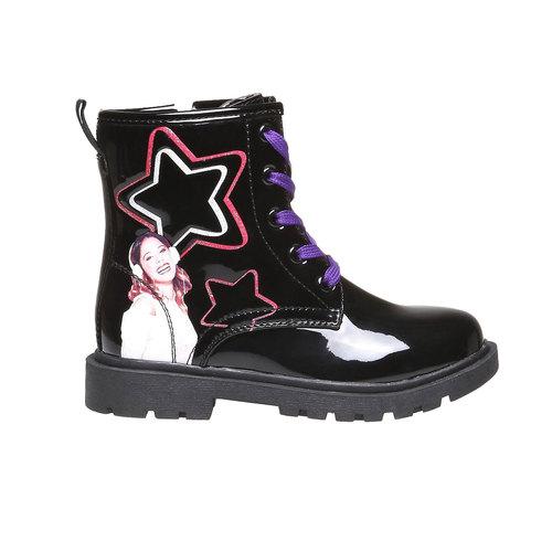Boot  violetta, nero, 391-6125 - 26
