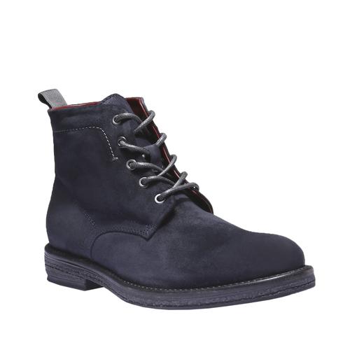 Scarpe di pelle alla caviglia bata, blu, 893-9204 - 13