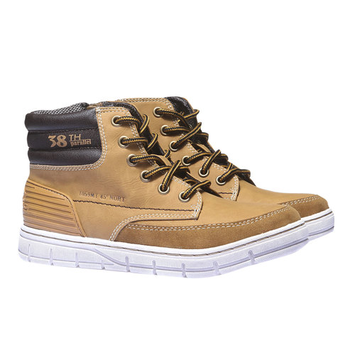 Scarpe da ragazzo alla caviglia mini-b, giallo, 391-8194 - 26