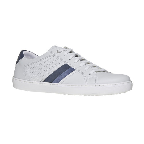 Sneakers bianche di pelle bata, bianco, 844-1639 - 13
