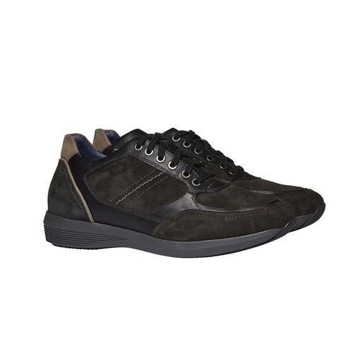 Sneakers scamosciate bata, grigio, 843-2519 - 26