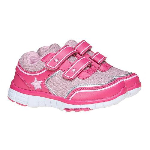 Sneakers rosa da ragazza con chiusure a velcro mini-b, rosa, 229-5175 - 26