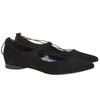 Ballerine nere con lacci bata, nero, 523-6211 - 26