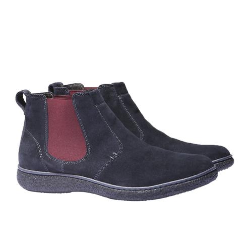 Scarpe in pelle stile Chelsea bata, blu, 893-9632 - 26