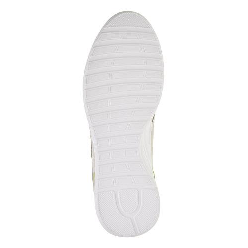 Sneakers da uomo in pelle gas, beige, giallo, 843-8606 - 26