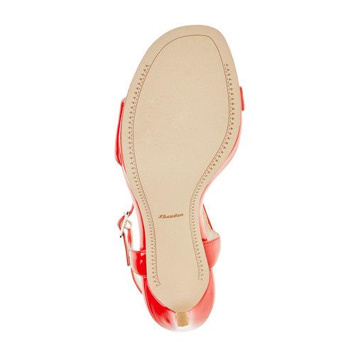 Sandali da donna con tacco a spillo bata, rosso, 761-5550 - 26