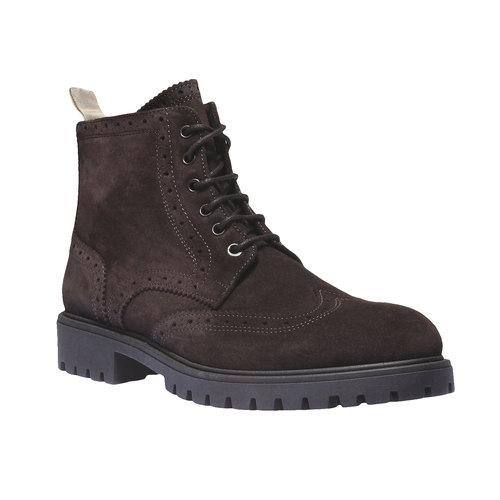 Scarpe in pelle alla caviglia con suola massiccia bata, marrone, 893-4289 - 13