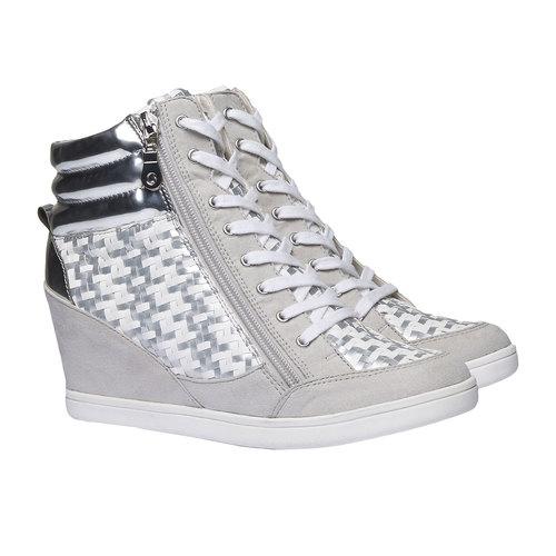 Sneakers alla caviglia con zeppa north-star, bianco, 721-1915 - 26