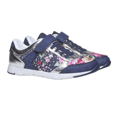 Sneakers da bambino con fiorellini mini-b, viola, 329-9174 - 26