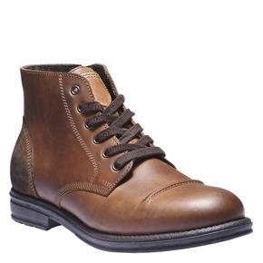 Scarpe in pelle informali bata, marrone, 894-3555 - 13