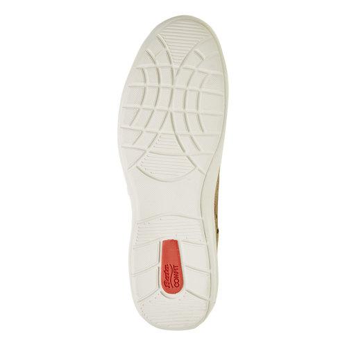 Sneakers informali di pelle bata-comfit, beige, 843-8643 - 26