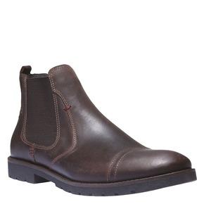 Scarpe in pelle in stile Chelsea bata, marrone, 894-4197 - 13